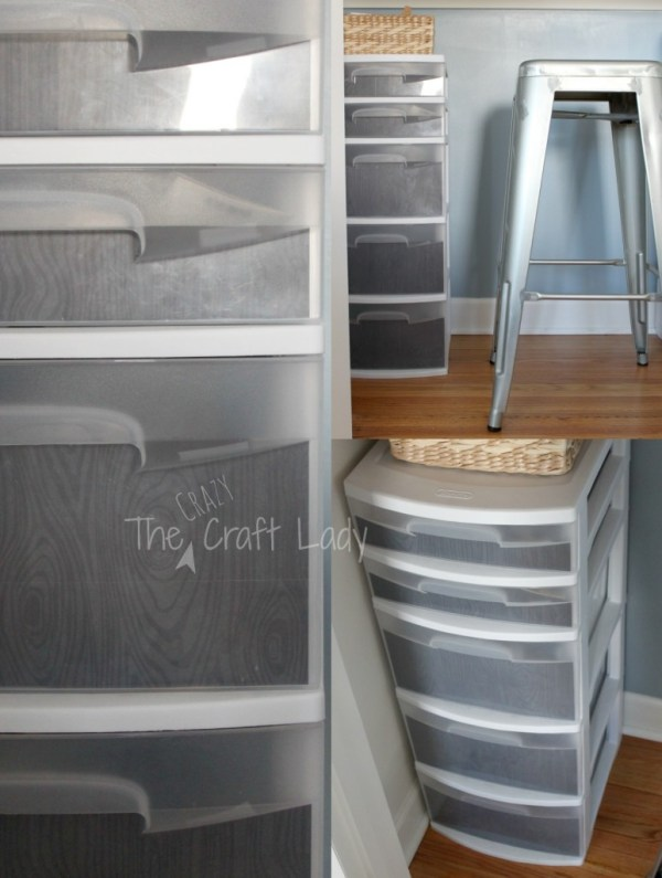 Closet home office with added storage - The Crazy Craft Lady featured on @Remodelaholic