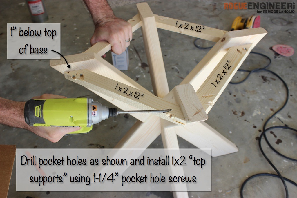 DIY X-Brace Concrete Side Table Plans | Step 9