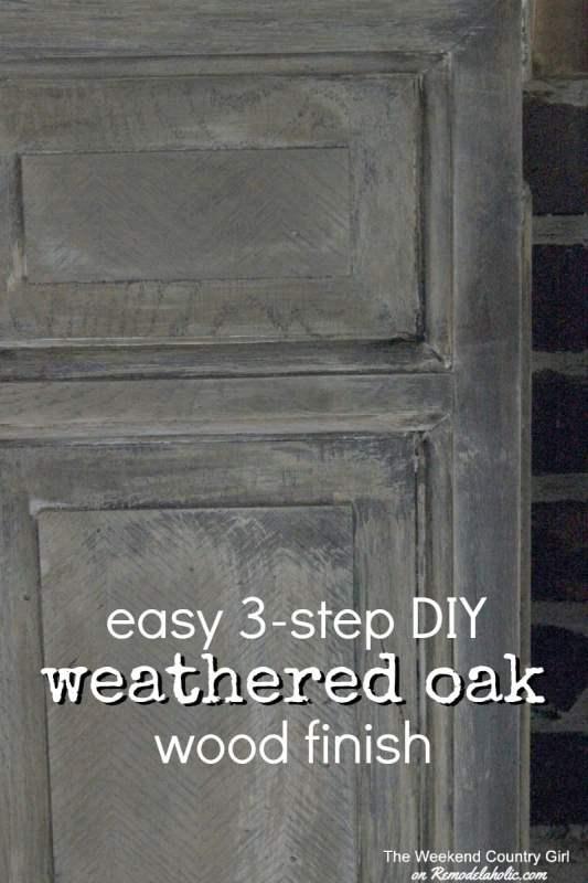 Easy 3-step DIY Weathered Oak Finish for Wood (just like Restoration Hardware)
