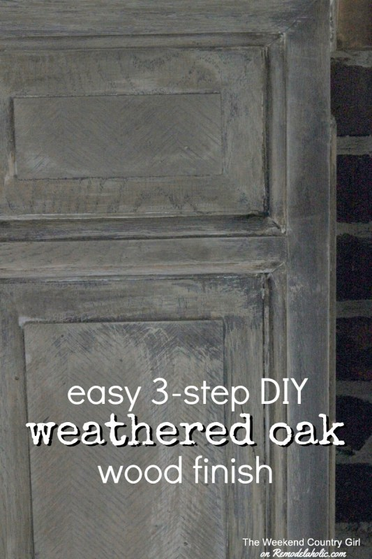 Easy 3-step DIY Weathered Oak Finish for Wood (just like Restoration Hardware)