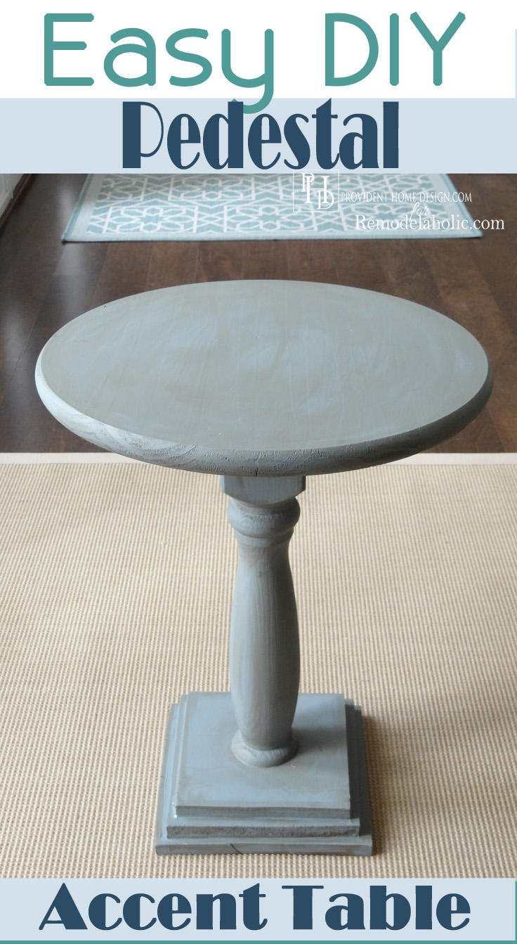 Easy DIY Pedestal Accent Table