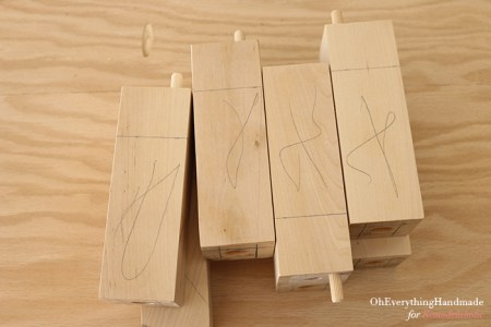 Ikea Karlstad Tapered leg - marking where to cut the legs