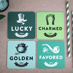 Elegance and Enchantment St. Patrick's Day Coasters