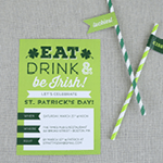 Elegance and Enchantment St. Patrick's Day Party Invitation