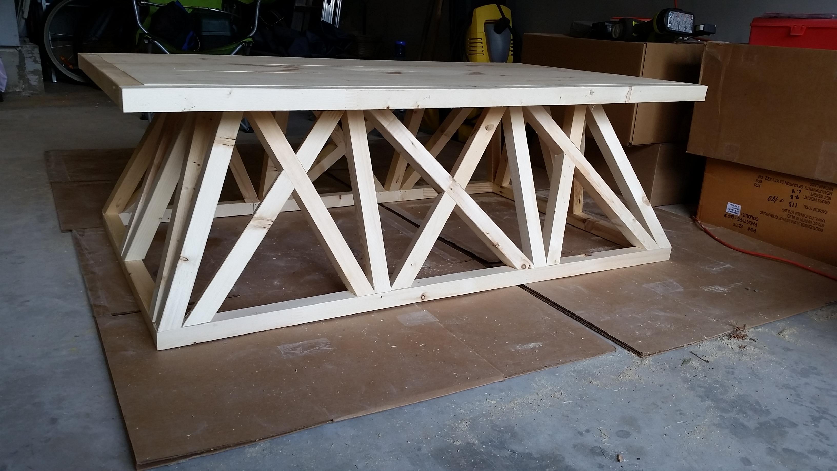 Restoration Hardware Trestle Door Coffee Table Diy Brag Post,  @remodelaholic.com