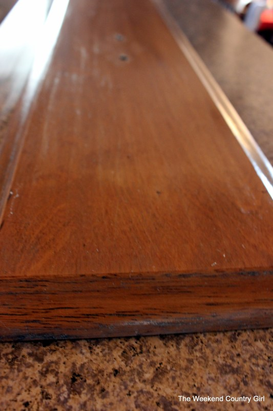 Weathered wood stain tutorail03 by The Weekend Country Girl on @Remodelaholic