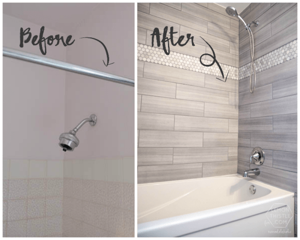 Remodelaholic How To Update A Tile Shower Tub In A Weekend - Updating bathroom tile