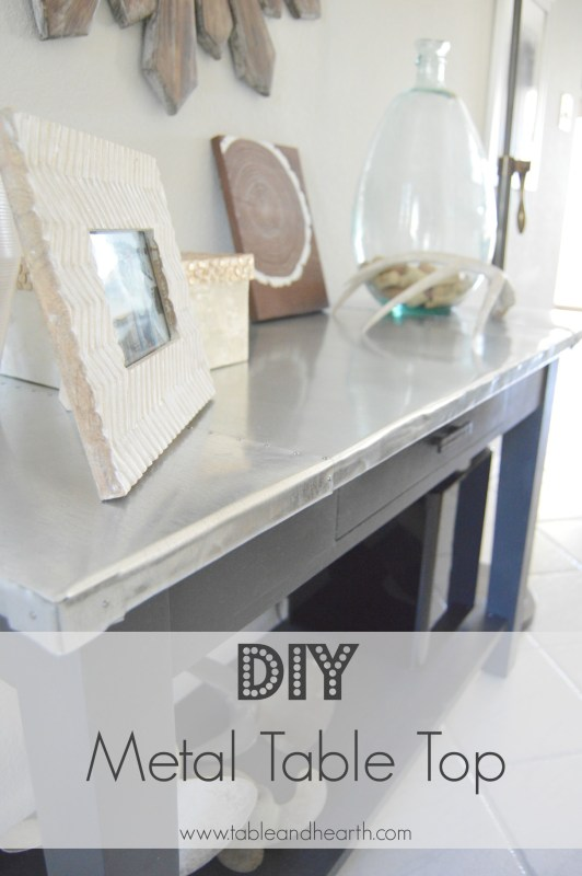 diy metal table top tutorial - Table and Hearth featured on @Remodelaholic (2)