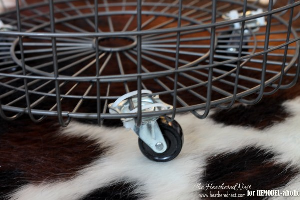 diy rolling wire bin tutorial - The Heathered Nest on @Remodelaholic