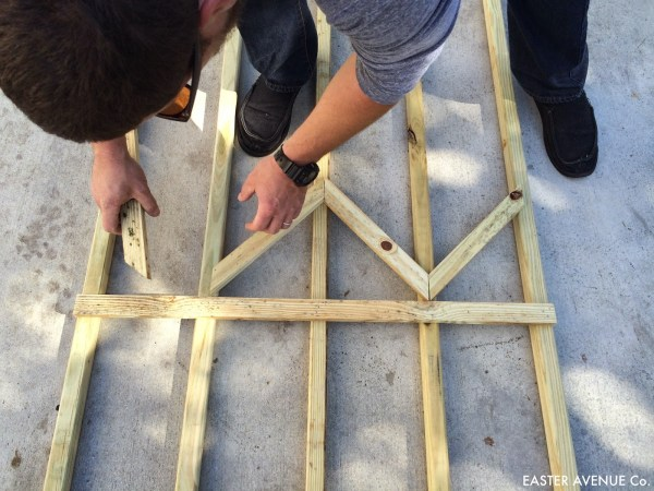 how to build a chevron lattice for garden plants, step 11 - Easter Avenue Co on @Remodelaholic