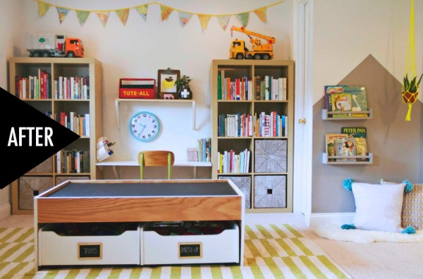 modern playroom storage