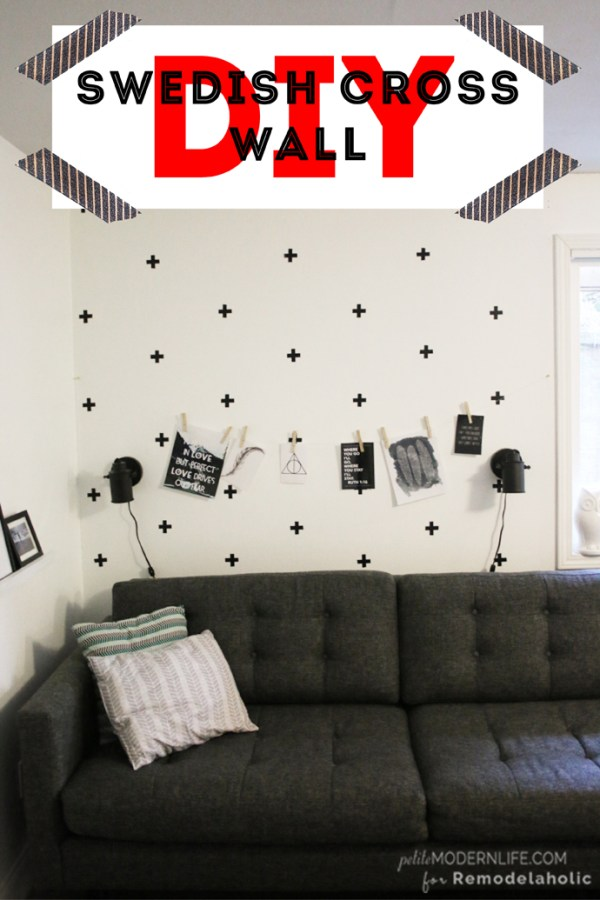 This DIY Swedish Cross Wall is a fantastic way to add character to any wall for under $4 and 1 hour of easy work!