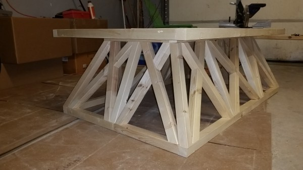 restoration hardware trestle door coffee table step by step brag post, @remodelaholic.com