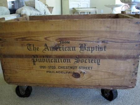 rolling antique crate