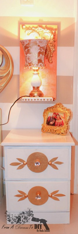 white nightstand makeover From A Dream to DIY