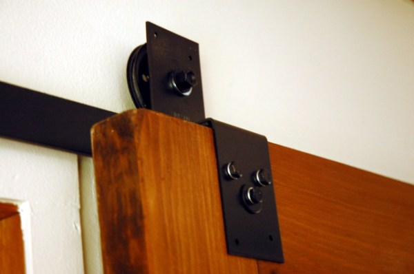 $45 sliding barn door hardware tutorial - My Not So Shabby Life LisaW