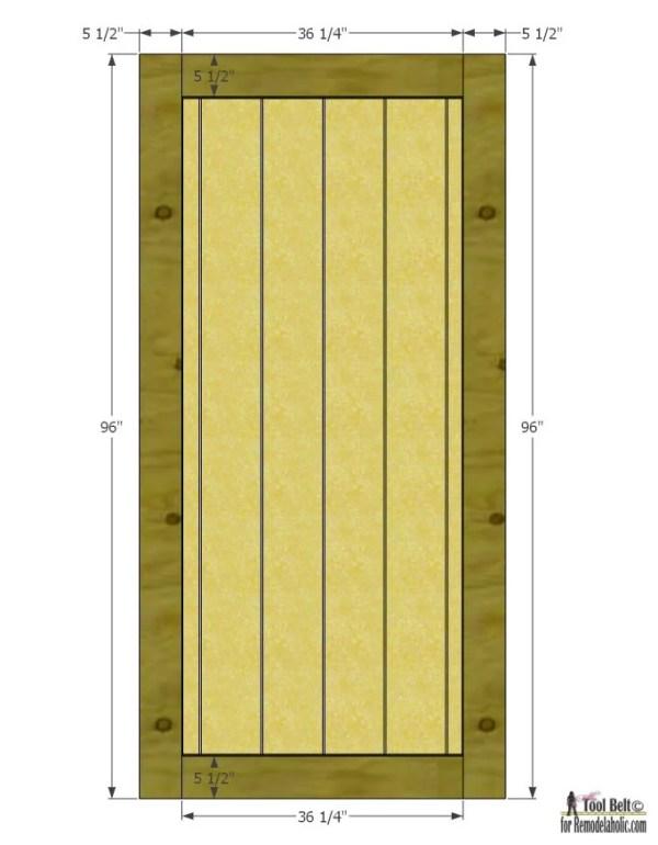 Remodelaholic Simple Diy Barn Door Tutorial