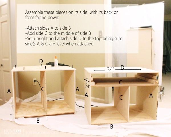 Bookcase Hutch Build - HMBC for Remodelaholic