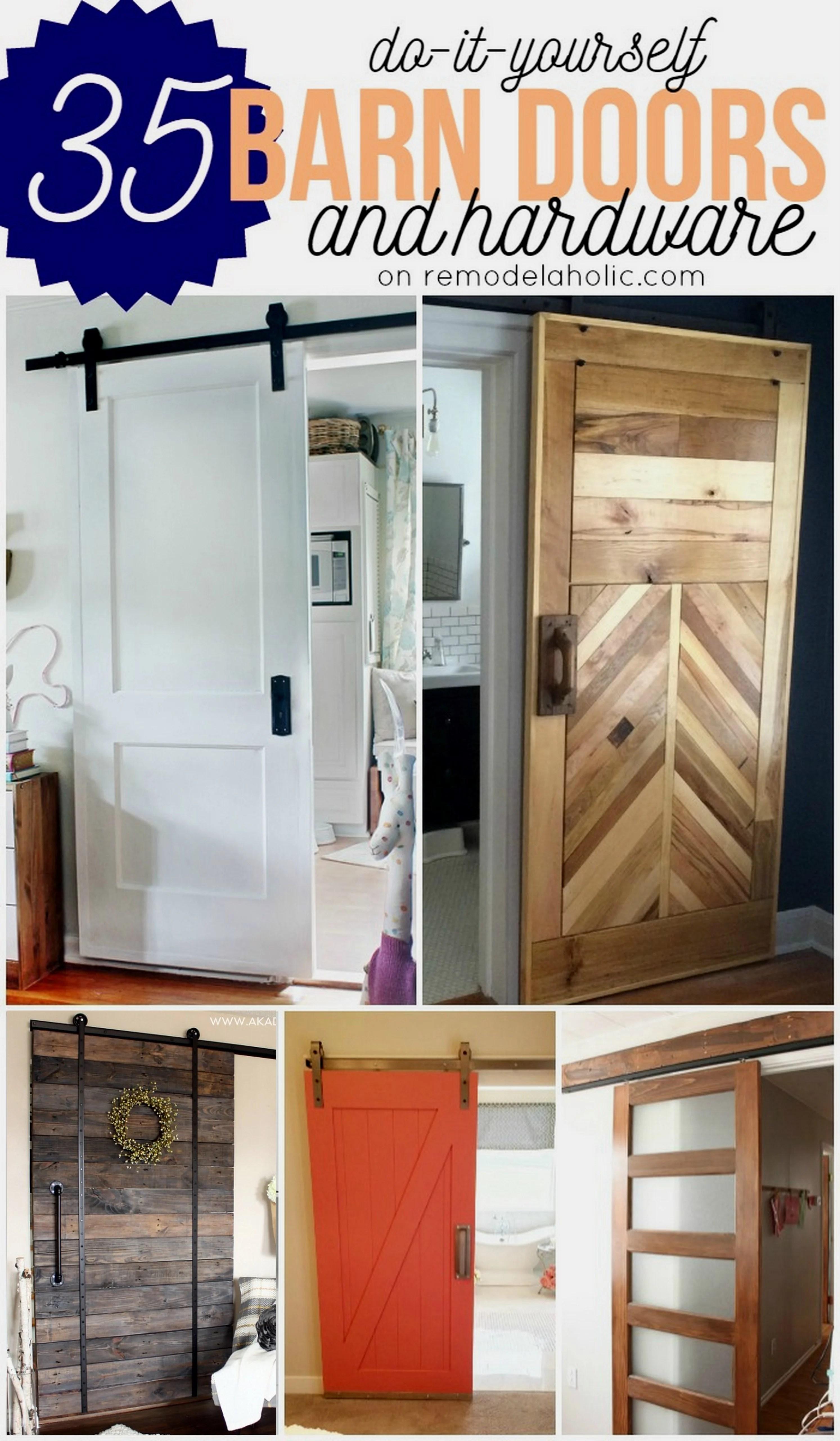 DIY Barn Doors - plus budget-friendly rolling door hardware options @Remodelaholic & Remodelaholic | 35 DIY Barn Doors + Rolling Door Hardware Ideas