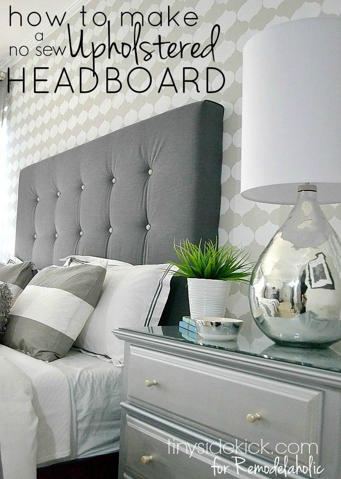 Remodelaholic | DIY Tufted Upholstered Headboard Tutorial