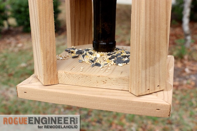 DIY Wine Bottle Bird Feed - Free Tutorial - Rogue Engineer 3