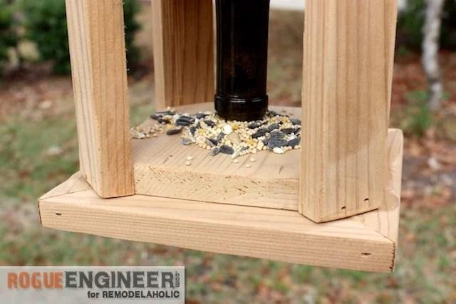 DIY Wine Bottle Bird Feed - Free Tutorial - Rogue Engineer 3