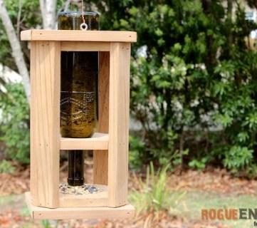 DIY Wine Bottle Bird Feed - Free Tutorial - Rogue Engineer