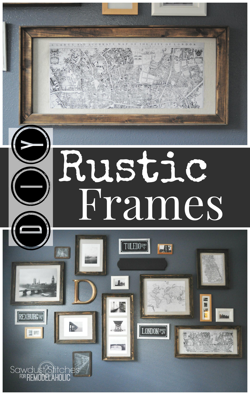 Remodelaholic | $3 DIY Rustic Frames