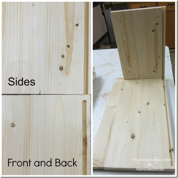 How to Build a Cute Wood Storage Box by Virginia Sweet Pea featured on @Remodelaholic