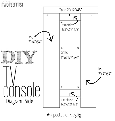 How to Build a TV Console with Old Windows by Two Feet First featured on @Remodelaholic