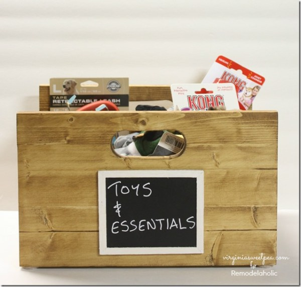 How to Build a Wood Storage Crate with Handles by Virginia Sweet Pea featured on @Remodelaholic