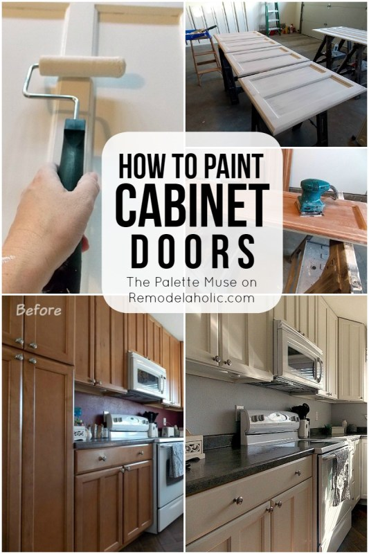 How to Paint Cabinet Doors - the right way, so you only have to do it once! Remodelaholic.com