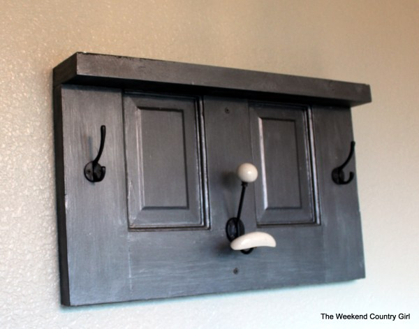 Towel rack with zinc finish by The Weekend Country Girl featured on @Remodelaholic