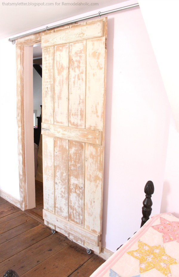 Remodelaholic | DIY Sliding Barn Door + Inexpensive Hardware