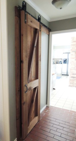 ... Build And Hang A Wooden Barn Door On DIY Rolling Hardware   Do Or DIY