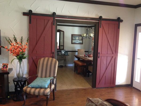 detailed tutorial for DIY barn doors and hanging hardware - Wilkerdos