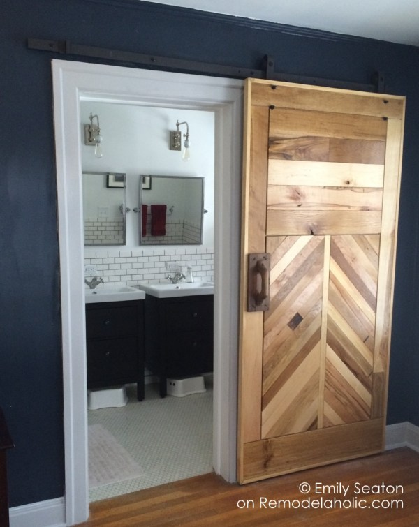 diy chevron barn door building tutorial - Emily Seaton on @Remodelaholic (10)