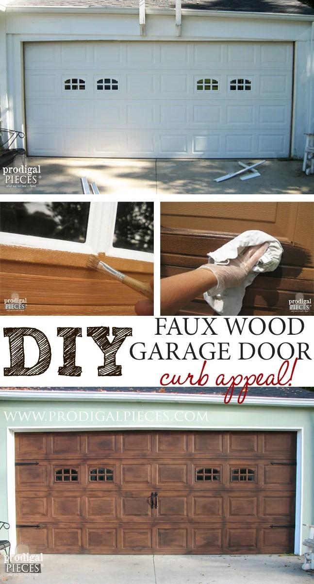 DIY Faux Wood Carriage Door
