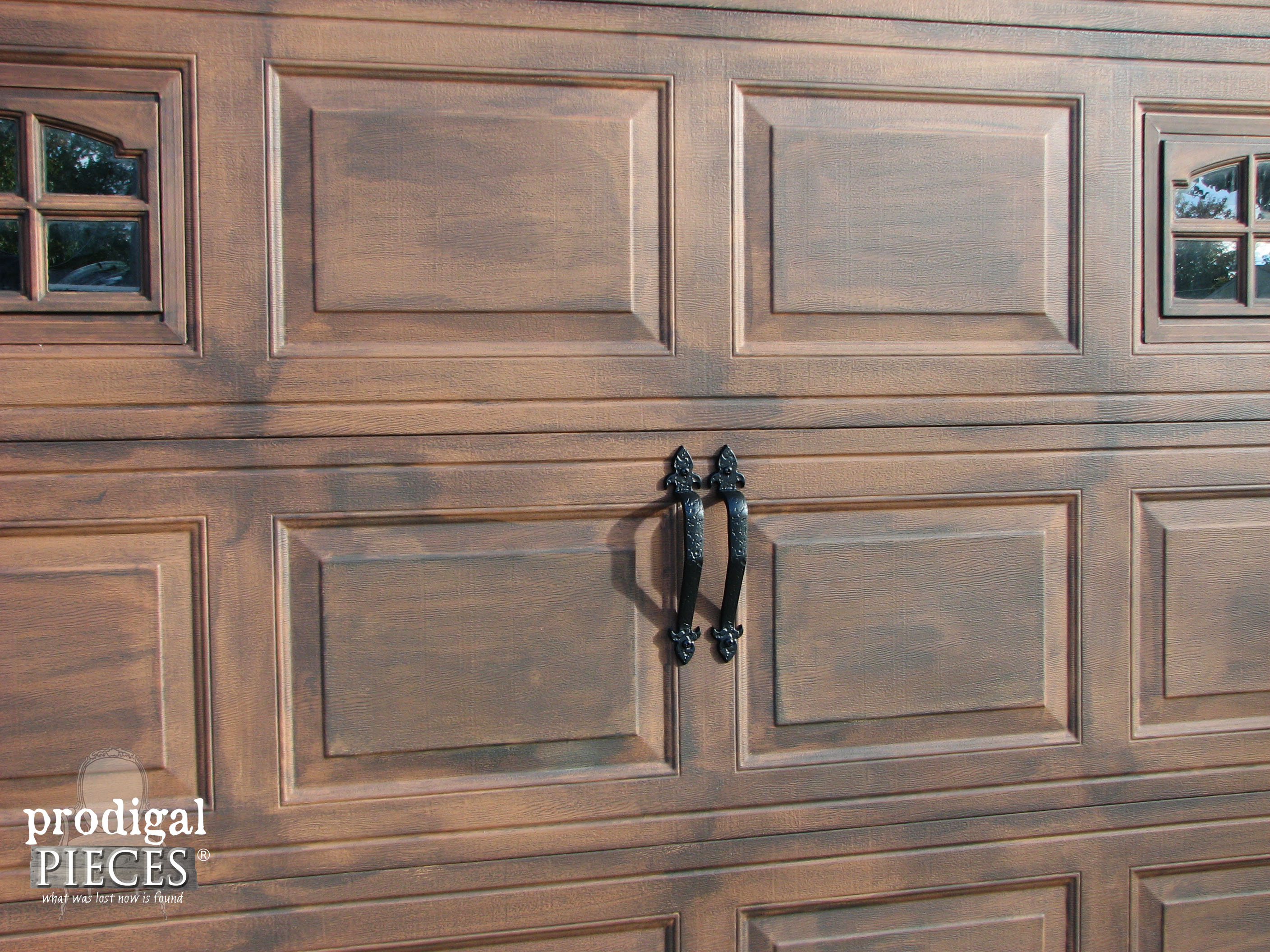 faux-wood-carriage-door & Remodelaholic | Faux Wood Carriage Garage Door Tutorial