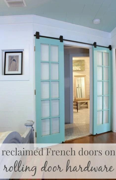 french doors on rolling barn door hardware - The Space Between