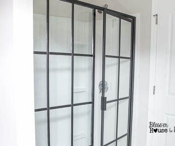 DIY industrial factory window shower door