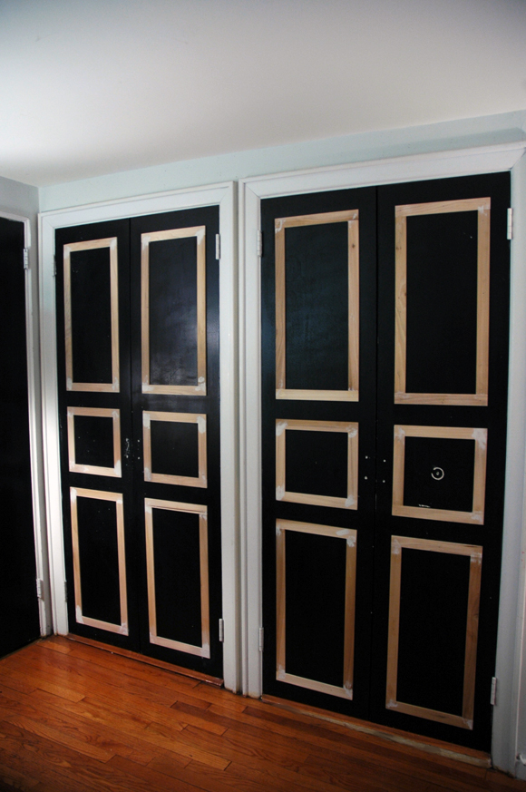 Remodelaholic 40 Ways To Update Flat Doors And Bifold Doors