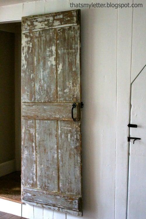 Beautiful Doors - antique farmhouse door That's My Letter