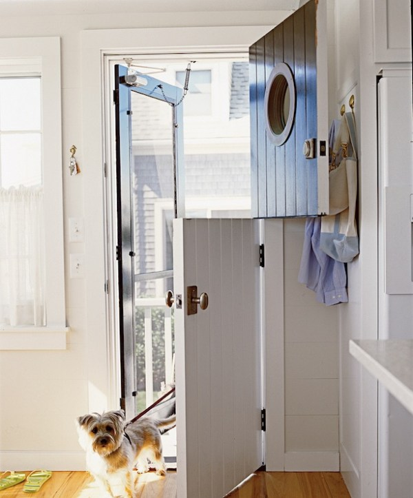 Beautiful Doors - dutch door with porthole window via DecorPad