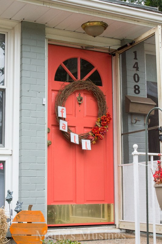 Beautiful Doors - entry door in red-coral Behr Japanese Kimono