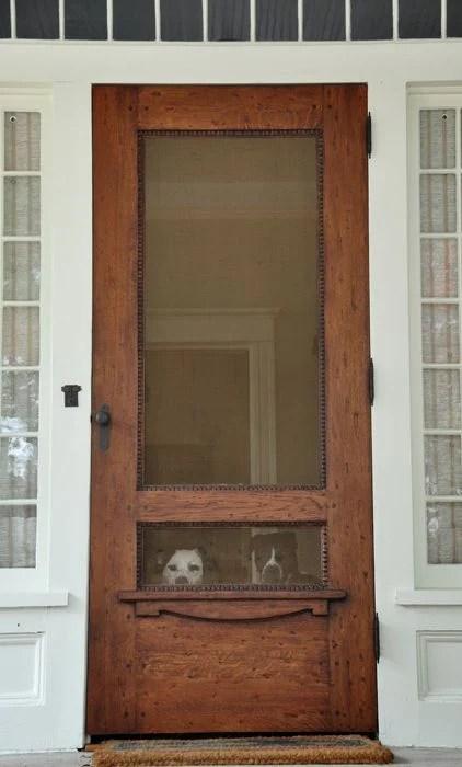 Beautiful Doors - wood screen door via Neely Design