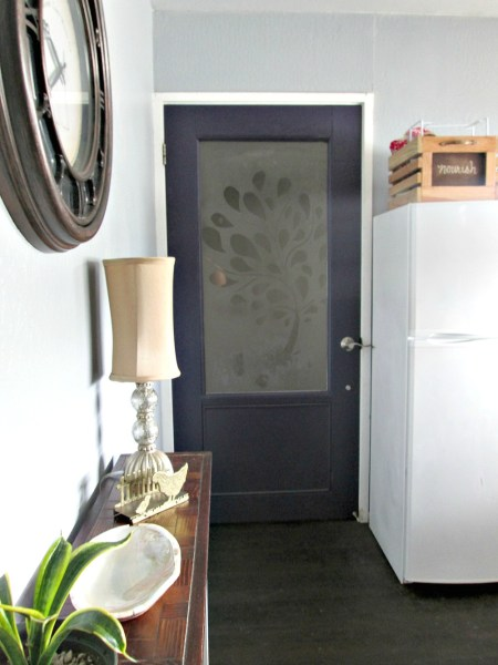Build an entry door with frosted glass inset - Sunnyside Upstairs on Remodelaholic