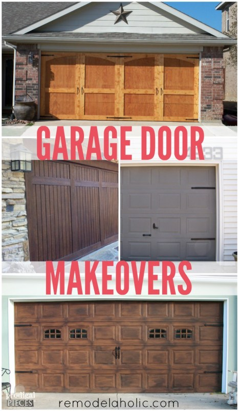 DIY Garage Door Makeovers @Remodelaholic