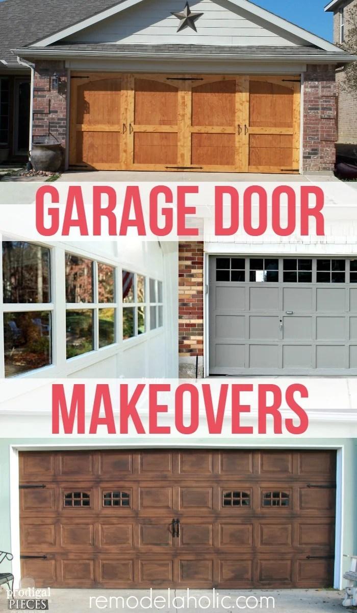 Amazing DIY Garage Door Makeovers @Remodelaholic
