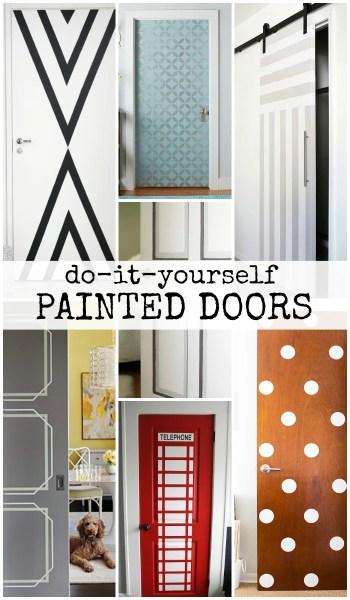 DIY Painted Door Ideas @Remodelaholic